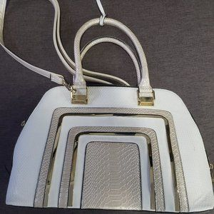 ALDO white satchel purse  (used)